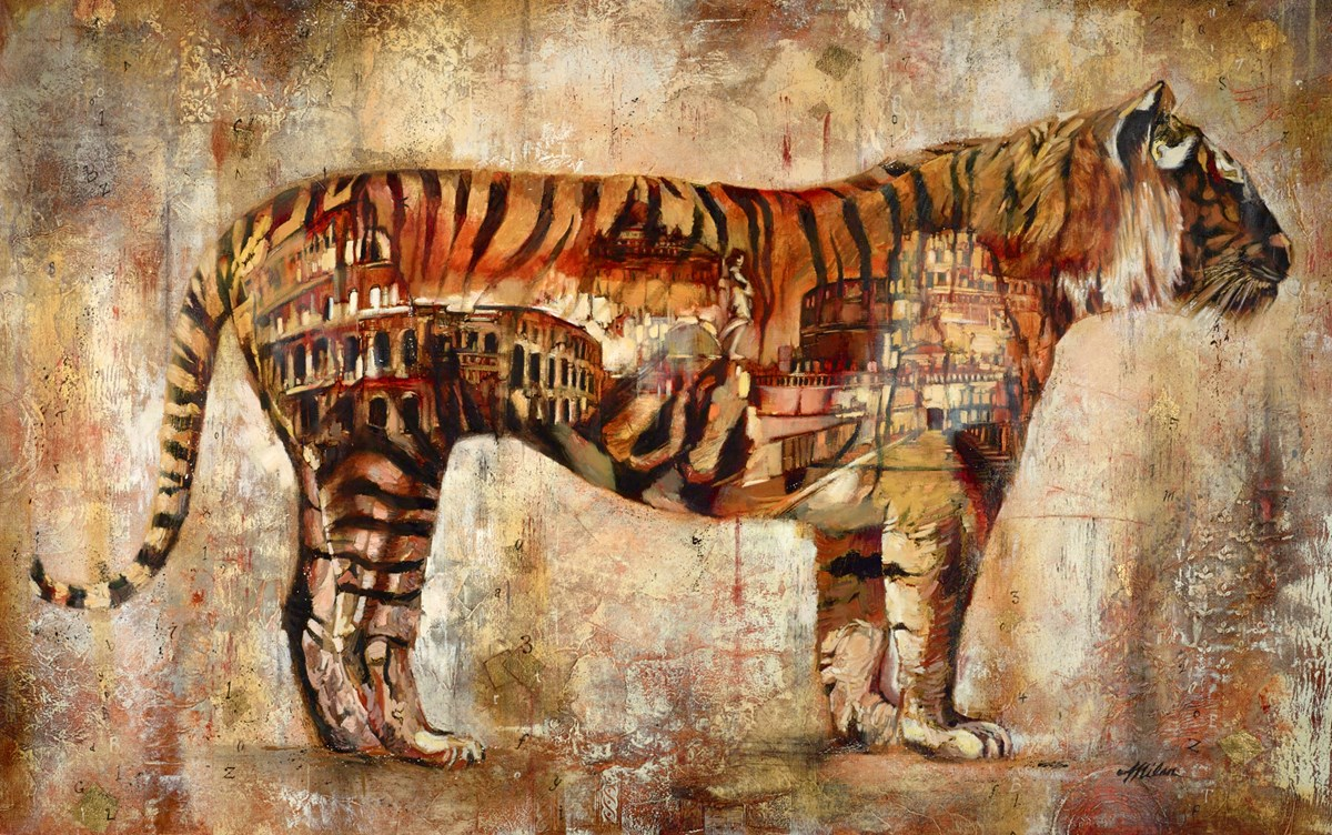 Tiger, Rome by john and elli milan -  sized 49x30 inches. Available from Whitewall Galleries
